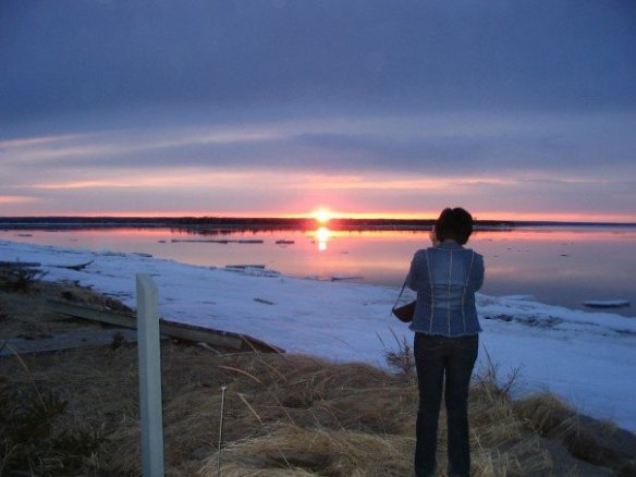 A gorgeous sunset near Bathurst, New Brunswick