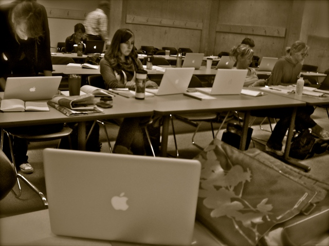 The many macs of the UBC School of Journalism. Let's try to hold on to them for a long time!