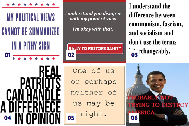 The top-voted sanest signs