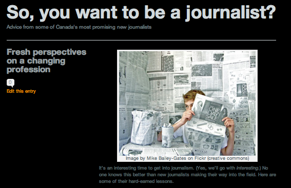 Advice from Canada's promising young journalists